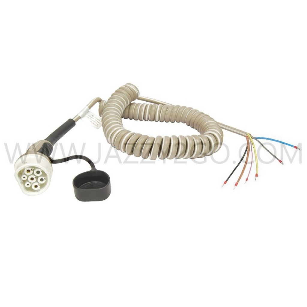 Coil Charging Cable 3 Phase - 32A Car plug Type 2 / permanent attachment mode 3